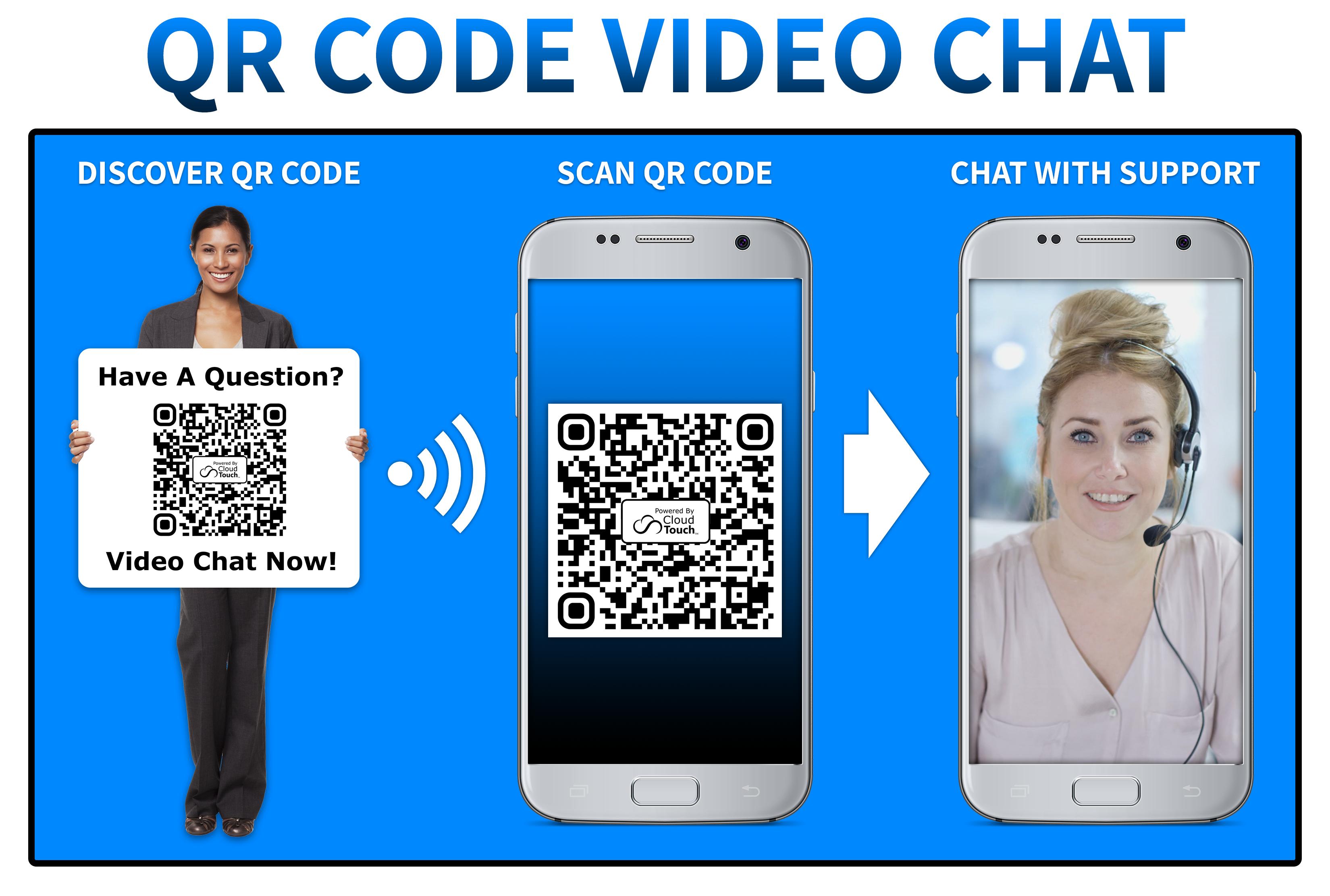 QR code video chat no logo